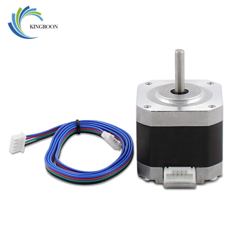 4-lead Nema17 Stepper Motor 42 Step 42BYGH 1.5A 17HS4401 1.8 DC For CNC XYZ 3D Printers Parts with 4 pin 800mm Dupont Cable Part