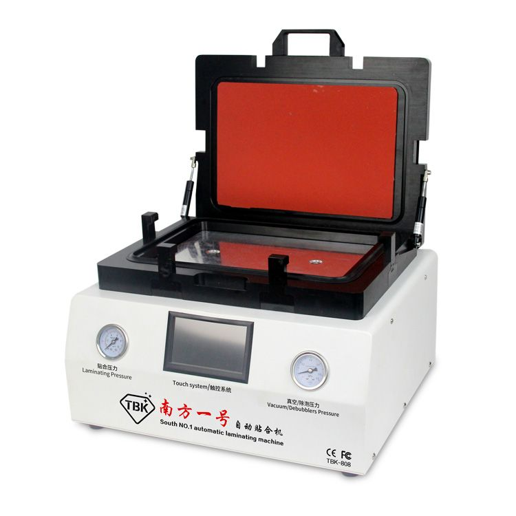 TBK-808 OCA Vakuum Laminieren Maschine Automatische Blase Entfernen Maschine mit automatischer verriegelung gas für LCD Touchscreen Reparatur