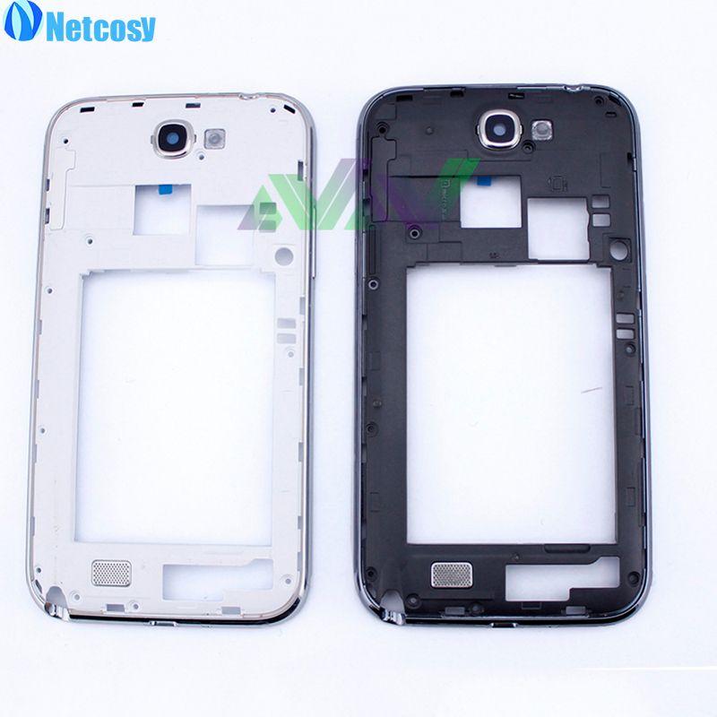 Netcosy Black & White Mid Mittleren Frame Lünette Platte Gehäuse abdeckung Für Samsung Galaxy Note2 N7100 Hinweis 2 Ersatzteile ersatz