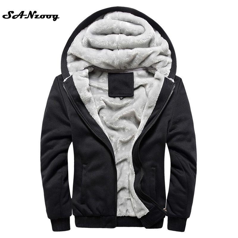 Hoodies Sweatshirt Men 2018 New Autumn Winter Warm Thick Solid Casual Tracksuit Fashion Men's Sweatshirts Hooded Plus Size M-5XL