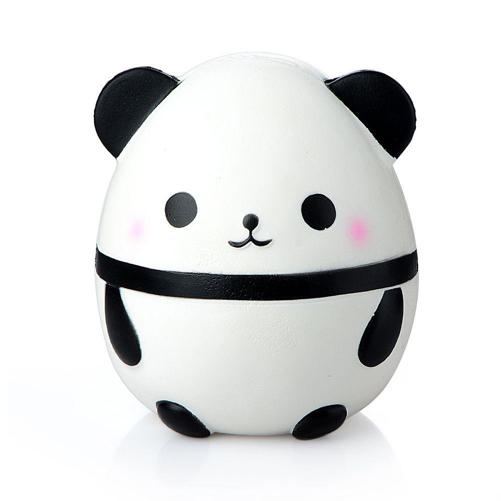 Wholesale 14CM Jumbo Kawaii Panda Egg Squishy Toy Doll Car Decoration Slow Rising Kids Soft Squeeze Stretchy Squeeze Gag Joke