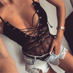 S M L 2 Color Black White Women Hollow Hot Erotic Lingerie Shoelace Button Exotic Apparel Baby doll Lingerie Sexy Underwear