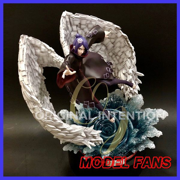 MODEL FANS INSTOCK OI NARUTO 30cm height Akatsuki Konan gk resin statue figure toy for Collection