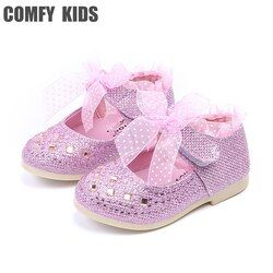 2017 new arrivals child baby girls princess shoes pu leather fashion crystal girls baby toddler shoes soft bottom infant shoe