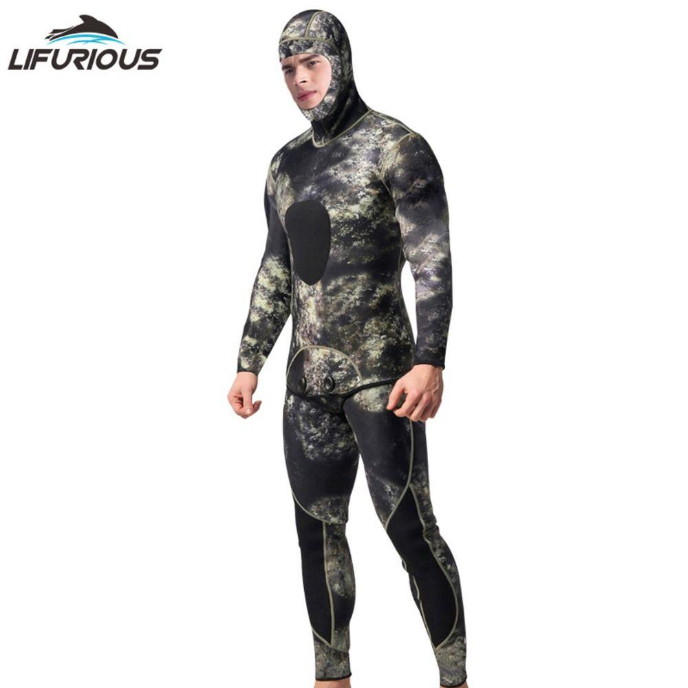 LIFURIOUS Professionelle 3mm Schwimmen Neoprenanzüge herren Tauchen Anzug Aufgeteilt Scuba Schnorchel Badeanzug Speerfischen Surfen Overall Ausrüstung