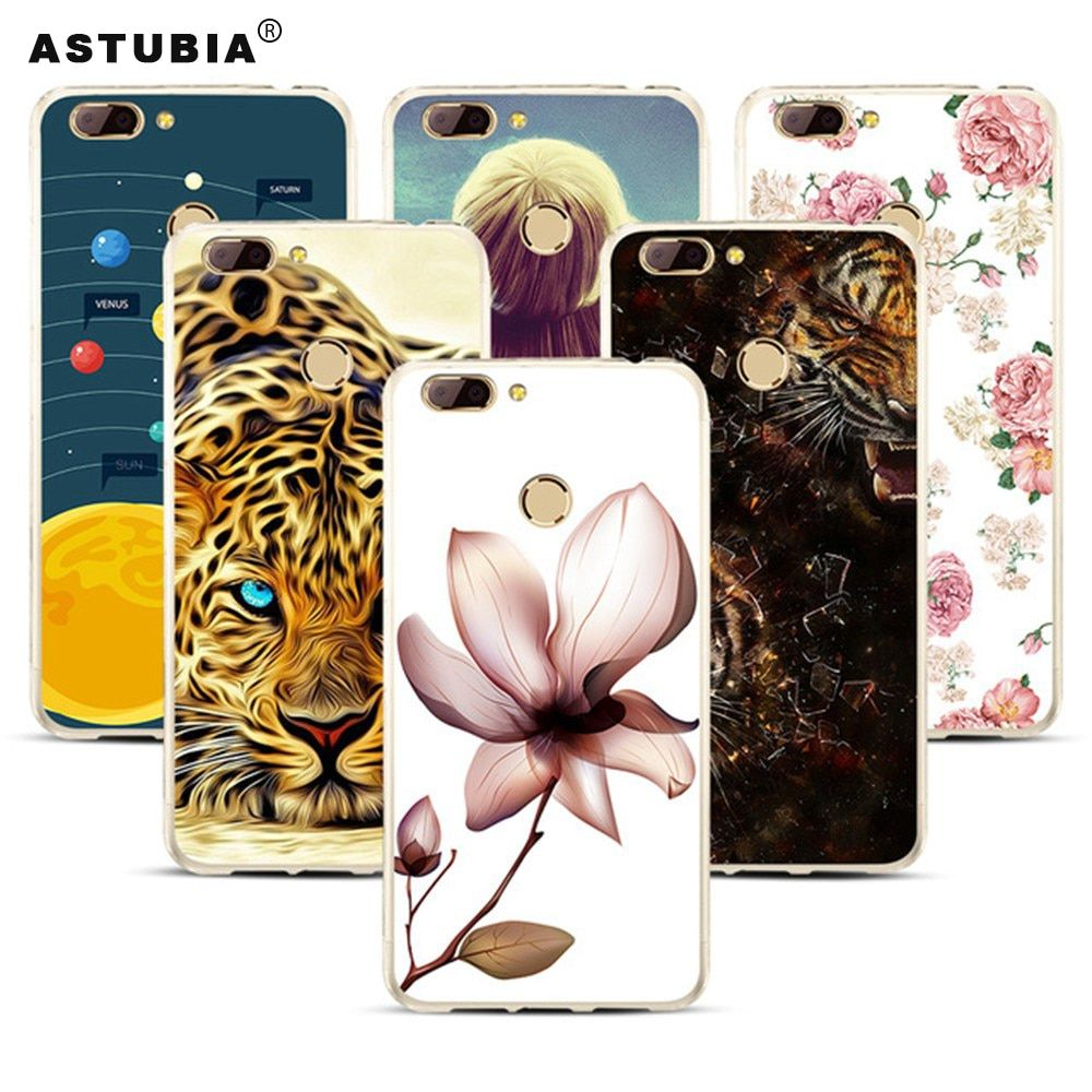 For Oukitel U20 Plus Case Floral Planet Pattern Silicone Phone Cases For Oukitel U20 Plus Fundas Stars Space Transparent Cases