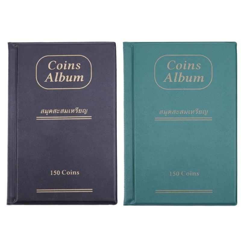 Große Münze Album Bücher 10 Seiten 150 Taschen Münze Sammlung Halter Buch Album für Münzen Collector Hause Dekoration