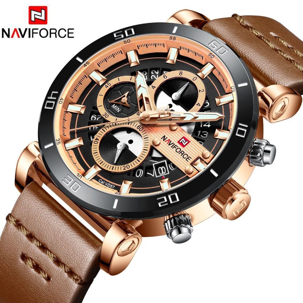2019 Watch Men NAVIFORCE Fashion Sport Quartz Clock Mens Watches Top Brand Luxury Business Waterproof Watch Relogio Masculino