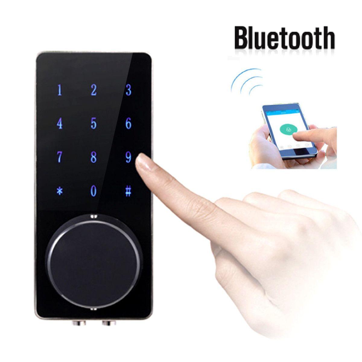 Bluetooth electrónica Smartcode Digital Cerradura de La Puerta Contraseña Sin Llave Táctil Deadbolt Para Hotel y Apartamento