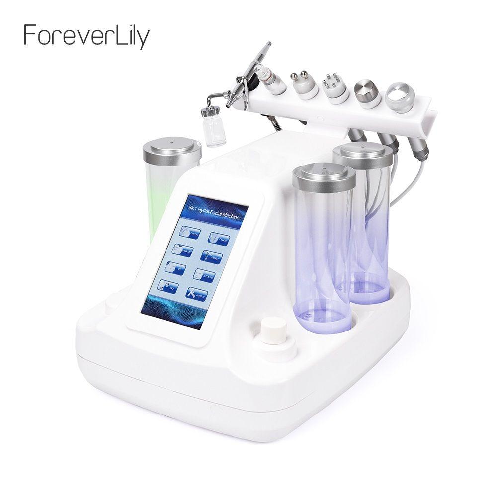 6 In 1 Kleine Blasen Ultraschall RF Hydra Tiefe Gesichts Ance Poren Reiniger Gesichts Massage Maschine BIO Licht Hautpflege gerät