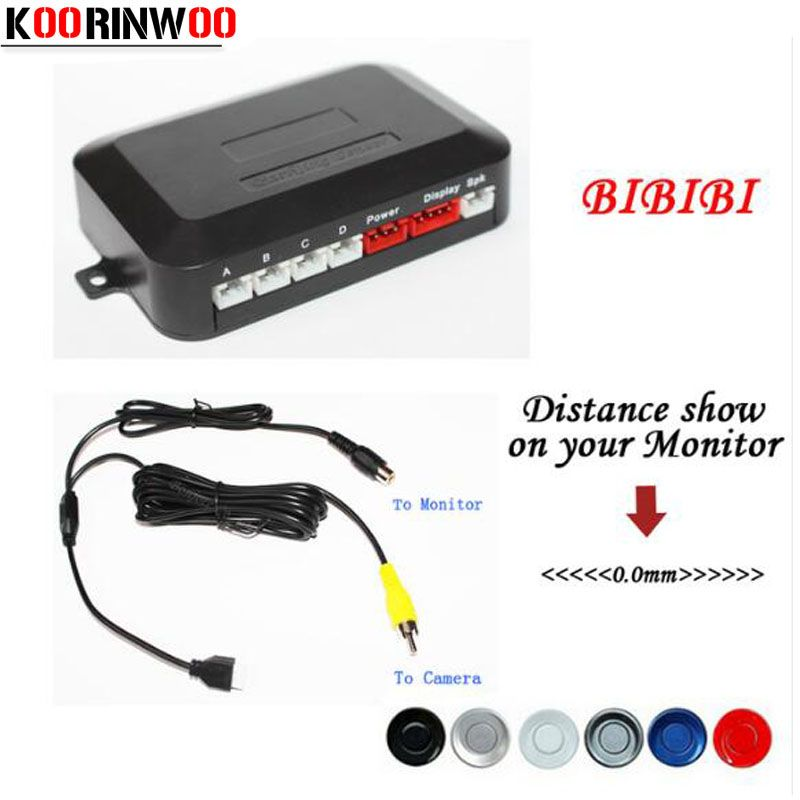 Koorinwoo Dual Core CPU Car Parking Assist Sensor Reverse Radar Video all-in-one System Connect Car Monitor and Rearview Camera