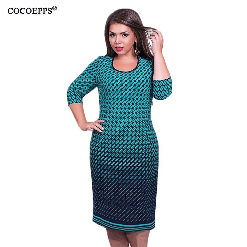 Grande taille femmes bureau travail imprimé Floral robe régulière moulante robe de soirée 2019 nouvelle robe d'été grande taille femmes vêtements 5xl 6xl