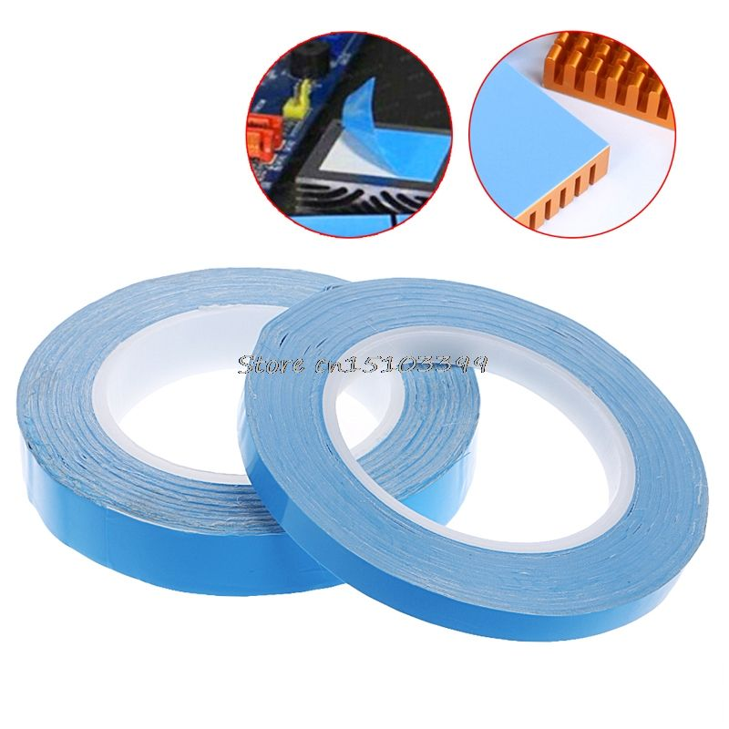 Adhesive Tape Double Side Transfer Heat Thermal Conduct For LED PCB Heatsink CPU 10mm/20mm*25m G25 Drop ship