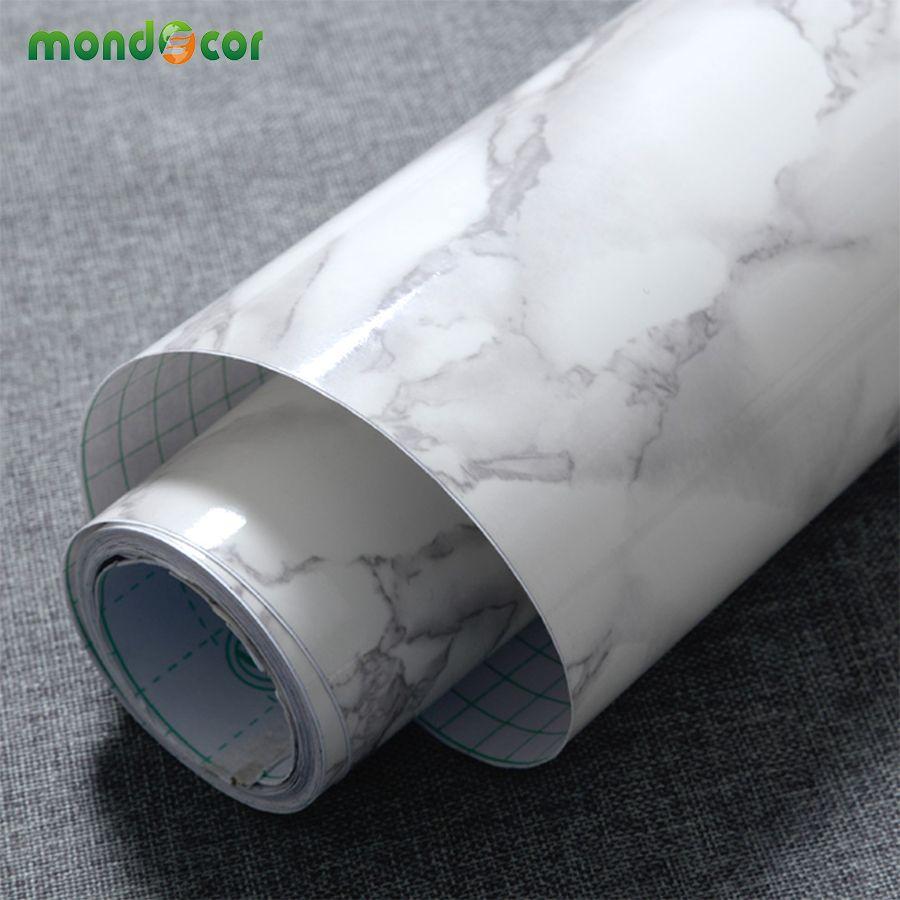 3M/5M/10M Modern Waterproof Vinyl <font><b>Self</b></font> adhesive Wallpaper Marble Contact Paper Kitchen Cupboard Shelf Drawer Liner Wall Stickers