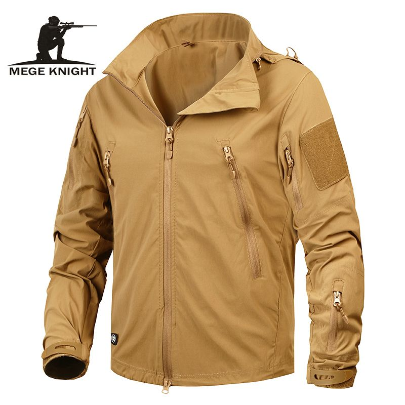 Mege Brand Clothing New Autumn Men's Jacket <font><b>Coat</b></font> Military Clothing Tactical Outwear US Army Breathable Nylon Light Windbreaker