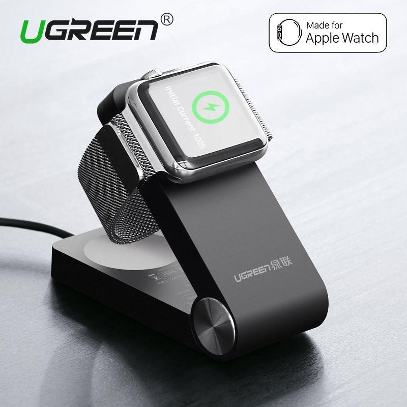 Ugreen Pliable Sans Fil Chargeur pour Apple Montre 3/2 MFi Certifié Charging Dock Stand Avec 1.2 M Chargeur Câble pour 38mm & 42mm