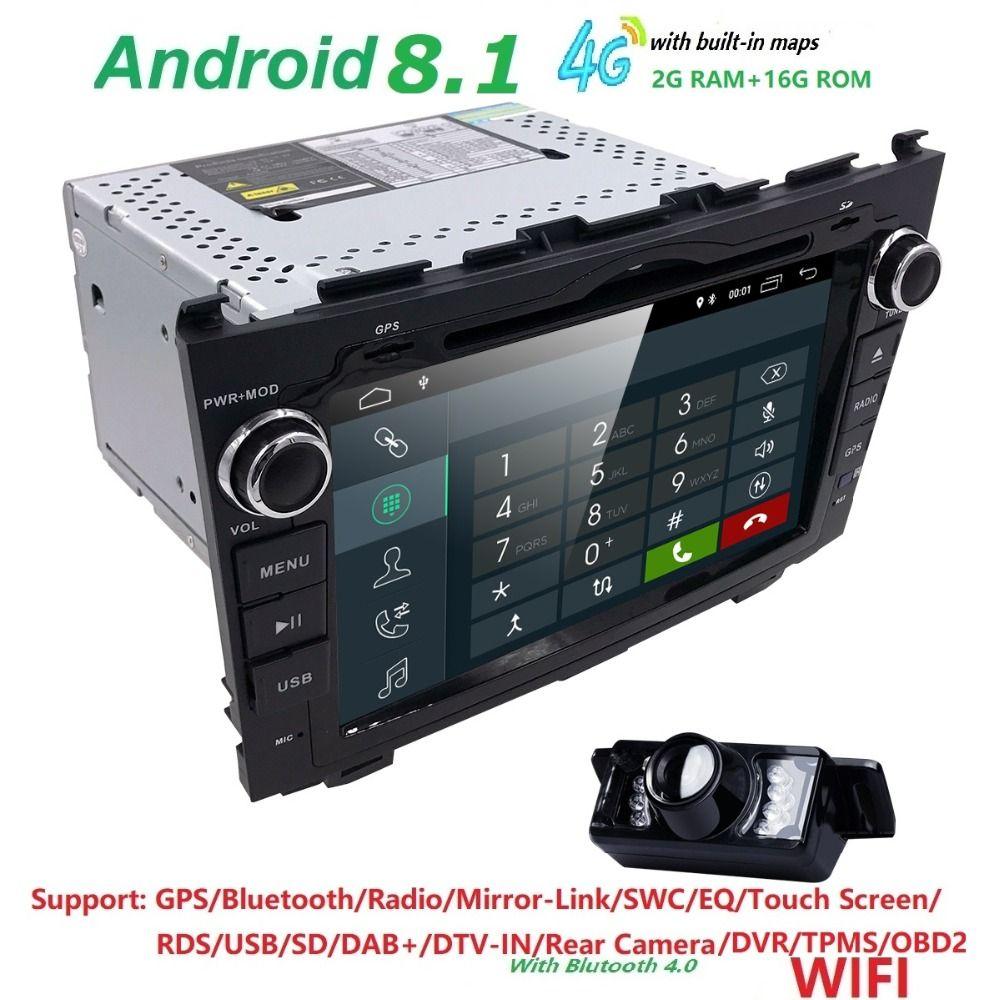 HD Quad Core A7 4*1.2GHz 1024X600 Android 8.1 Car DVD Player For Honda CRV CR-V 2006-2011 4G WiFi GPS Navigation Stereo Video SD