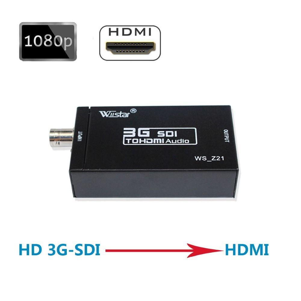 Wiistar SDI Converter SDI zu HDMI Audio Video Converter BNC zu HDMI Adapter Unterstützung HD 3G SDI Full HD 1080 P Hohe Qualität