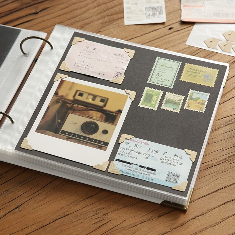 DIY Family Memory Scrapbooking Albums Wedding Photo Album Polaroid Protection Film Photo Album Scrapbook