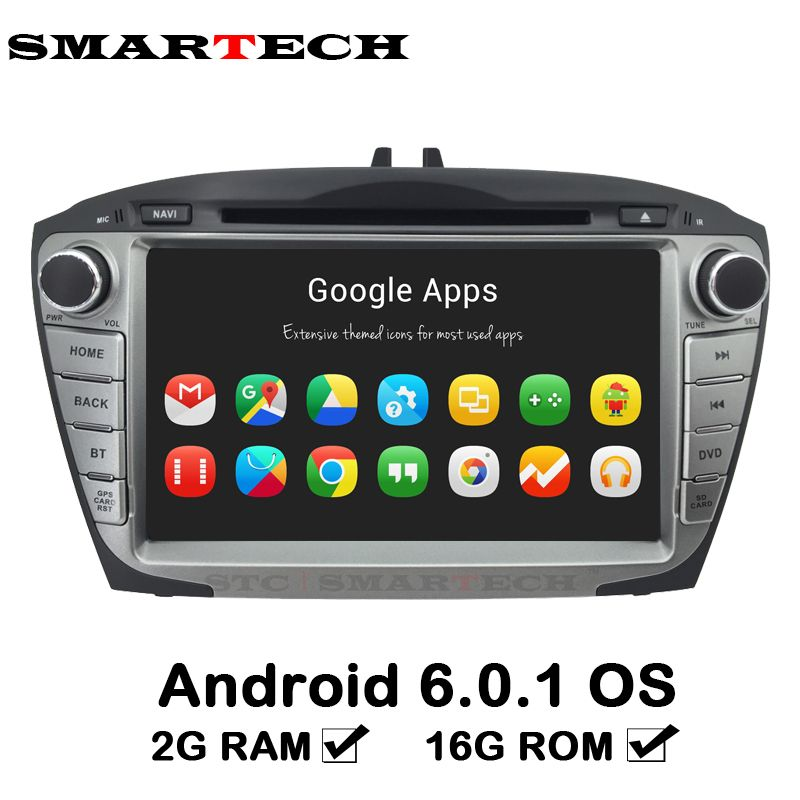Autoradio 2 Din 8 Inch Android 6 Car DVD For Hyunda IX35 Tucson 2009-2015 Car Radio RDS Audio Video Player GPS Navigation 2G RAM