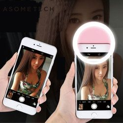 Selfie LED Flash Light Up Universal Mobile Phone Selfie Luminous Ring Clip For For iPhone 8 8x 7 6 6S Plus Samsung Xiaomi Huawei