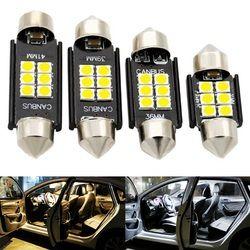 4 шт. гирлянда 31 мм 36 мм 39 мм 41 мм супер яркий 3030 светодиодный свет купола автомобиля C3W C5W c10W авто Интерьер лампа Лицензия плиты лампы