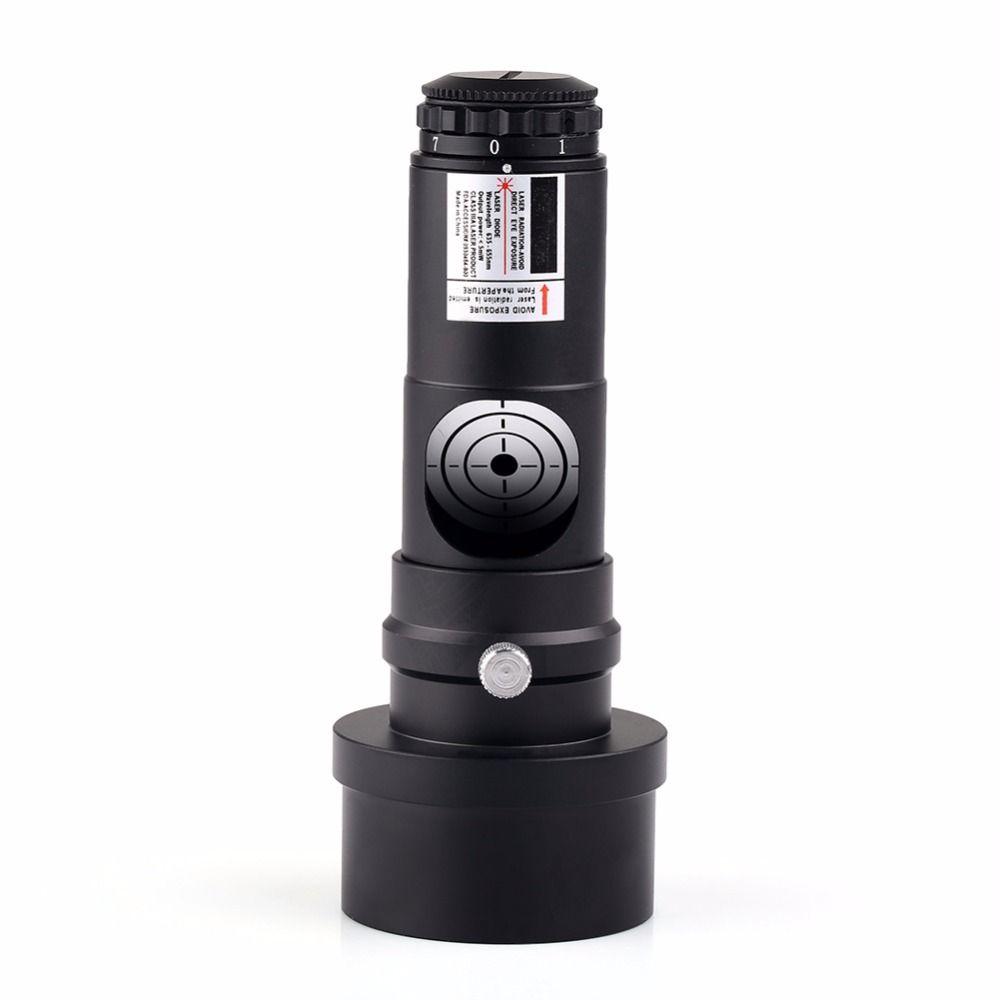 Collimateur Laser rouge 1.25 pouces nouvelle génération oculaire + adaptateur 2 pour télescopes avec 7 niveaux lumineux (sans batterie)
