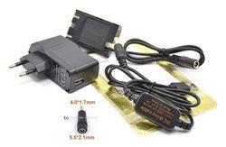 ACK-E6 puissance Mobile usb câble + DR-E6 coupleur CC LP-E6 batterie factice + 5 V 3A chargeur pour Canon EOS 60D 5D2 6D 7D 5D Mark II III 5D3