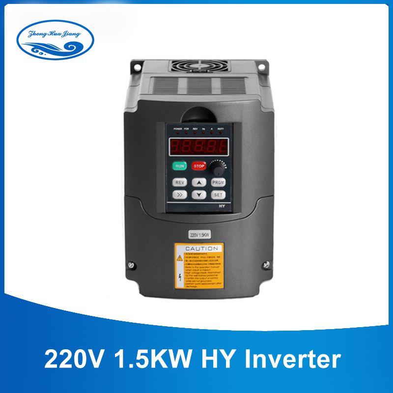 1.5KW VFD CNC Inverter 1500 W Spindel Variable Frequency Drive VFD Inverter AC 110 V/220 V Spindel Inverter werkzeuge Heißer Verkauf
