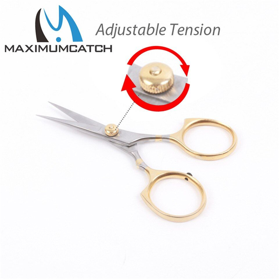 Maximumcatch New Fly Fishing Tying Scissors High Quality Stainless Steel Sharp Fishing Forcep With Adjustable Tension