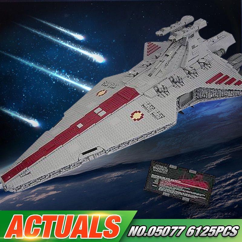 Lepin 05077 Star Series War Genuine The UCS Rupblic Star Set Destroyer Cruiser ST04 Set Building Blocks Bricks New Toys For Kids