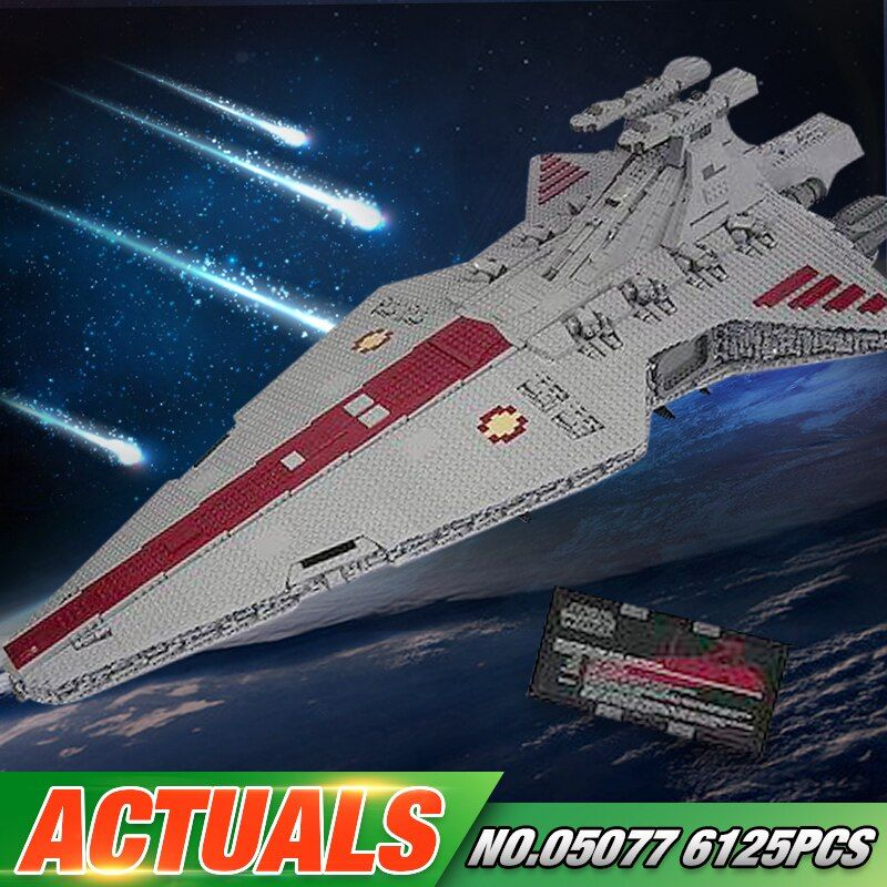 Lepin 05077 Star Series War Genuine The UCS Rupblic Star Set Destroyer Cruiser ST04 Set Building Blocks Bricks New Toys For Kids