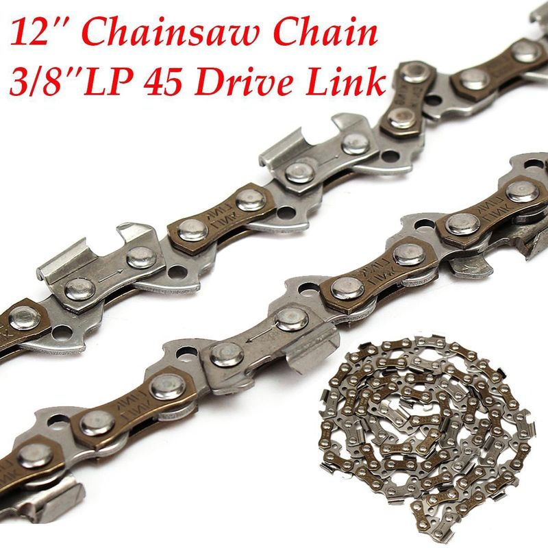 Replacement Chainsaw Saw Chain 12'' 45DL Drive Links Pitch 3/8LP 050 Gauge Chainsaw Blade for Garden Tools Mayitr