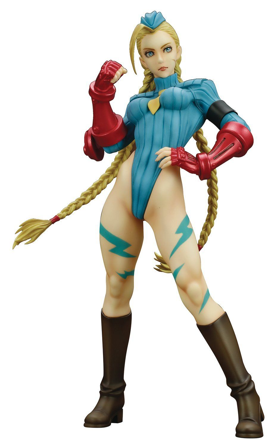 Hot Sale Bishoujo Statue Cammy White Alpha Costume Sexy 22.5cm Game Anime Street Fighter Kotobukiya Action Figure Figurine Toys