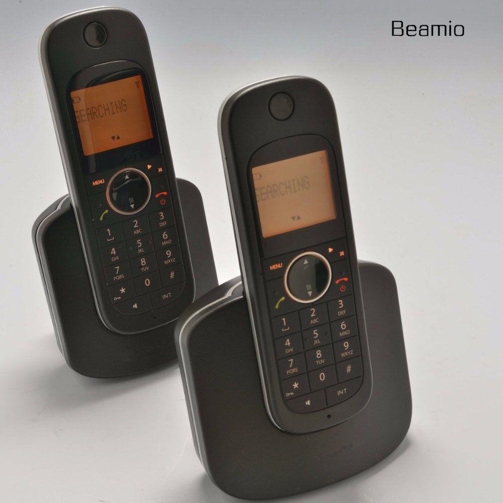 2 pcs Combinés Call ID DECT Numérique Sans Fil US Version 2.4G D10 Numérique Sans Fil Téléphone Pour Home Office Noir