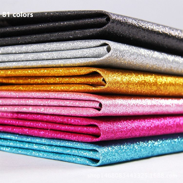Width137cm*1m/pcs Glitter PU Faux leather fabric Sewing Synthetic leather Artificial Bright soft leather Home Diy leather