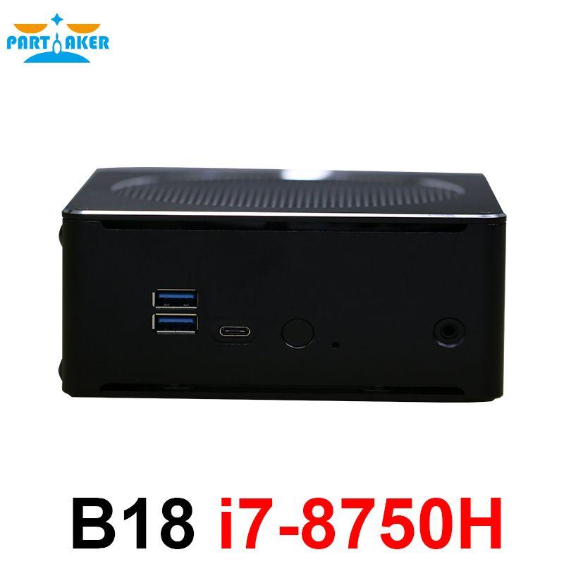Teilhaftig i7 8750 H Kaffee See 8th Gen Mini PC Windows10 Mit Intel Core i7 8750 H Intel UHD Grafiken 630 Mini DP HDMI WiFi DDR4