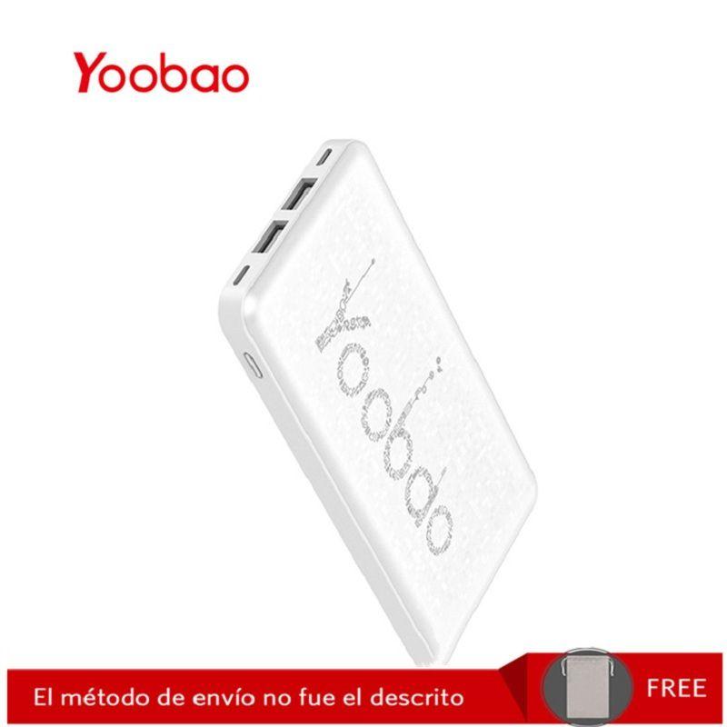 Yoobao KJ03 10000mAh sauvegarde Mobile Ultra-mince chargeur portatif en polymère batterie externe chargeur universel avec double USB (sortie et entrée)