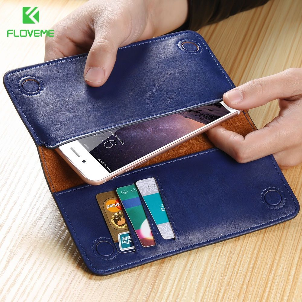 FLOVEME Brand Original Leather Wallet Phone Bag For Xiaomi 6 5 Case 5.5 inch Universal Cover Cases Pouch With Card Slot Cases