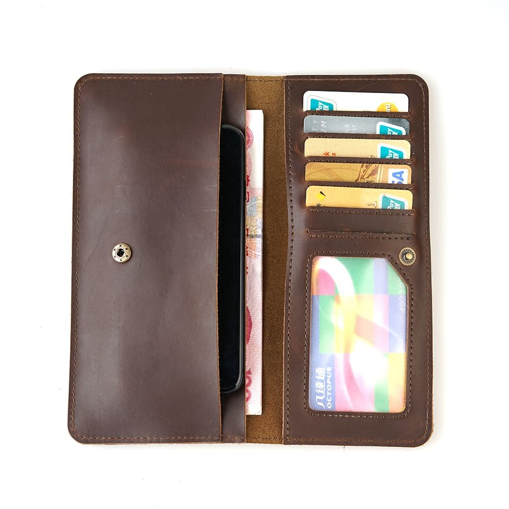 LingJiao Pai Multifunctional Travel Genuine Leather Card Wallet Purse