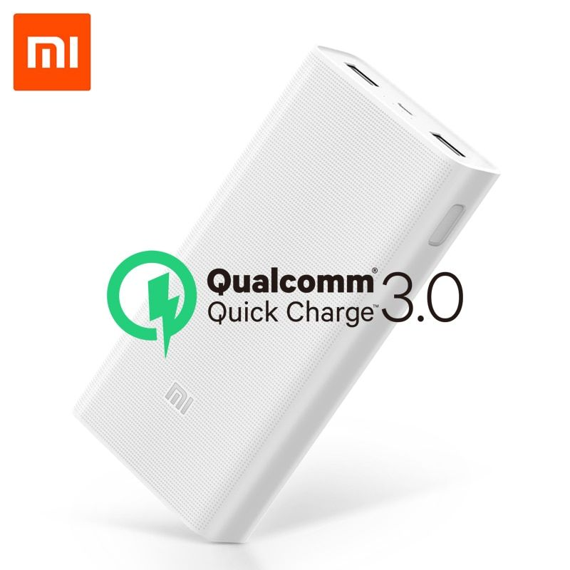 D'origine 20000 mAh batterie externe de xiaomi 2C 2 voies Charge Rapide QC3.0 mi Powerbank Double Ports USB Batterie Externe pour Appareil Intelligent