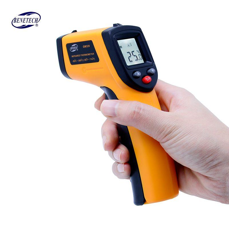 Numérique gm320 Thermomètre Infrarouge sans contact infrarouge thermomètre température Pyromètre IR Laser Point Gun-50 ~ 380 degrés