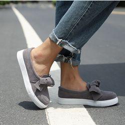 MCCKLE/женские лоферы больших Размеры на платформе; слипоны; туфли на плоской подошве с бантом при шитье обуви на заказ, Повседневное с бантом д...