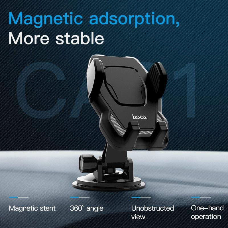 HOCO infrared automatically open Air Outlet Car Phone Holder Support Rotation Dashboard 360Rotation Cell Phones Stand for iphone
