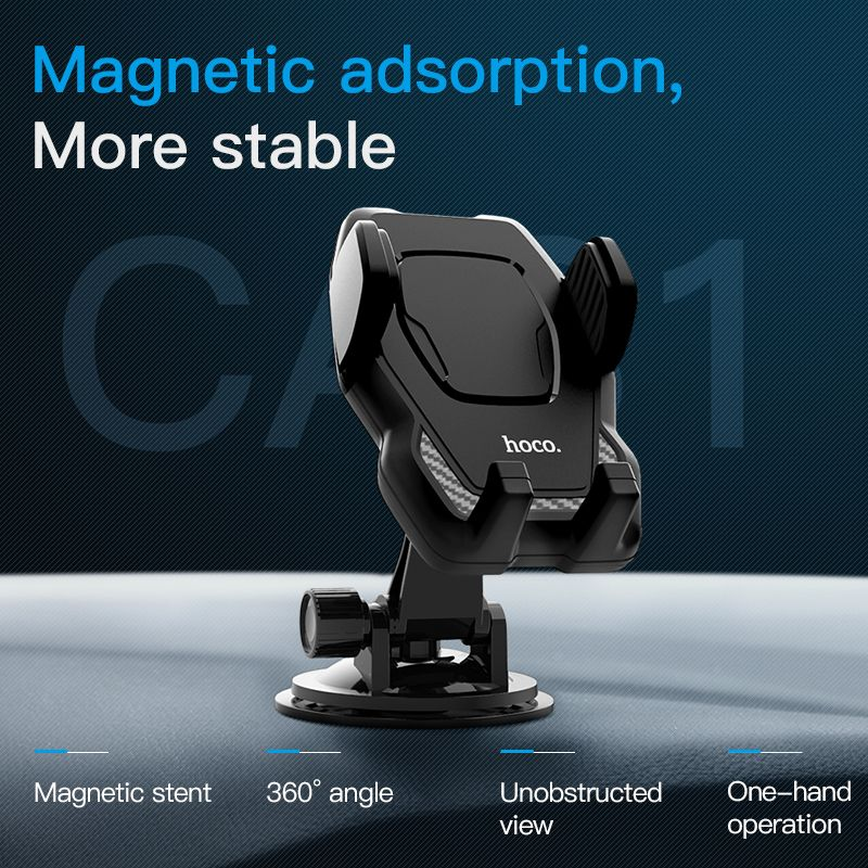 HOCO infrared automatically open Air Outlet Car Phone Holder <font><b>Support</b></font> Rotation Dashboard 360Rotation Cell Phones Stand for iphone