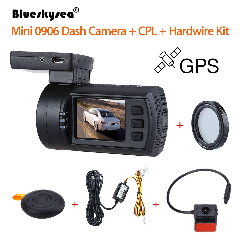 Blueskysea 0906 1080P 1.5 LCD Car DVR GPS IMX291 Night <font><b>Vision</b></font> G-Sensor Camera Recorder Dashboard+CPL Lens+Hardwire Kit Dash Cam