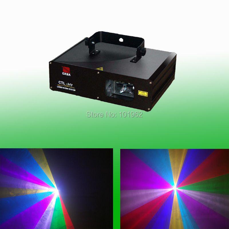 Caliente 2 W RGB full color proyector de DJ disco luz de la etapa del partido DMX láser Iluminación mostrar