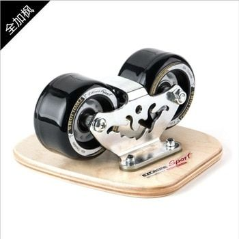 TWOLIONS Canadian Maple Freeline Skates Wooden Drift Skate Board Patines Scrub Deck FreeStyle Skates Moire Wakeboard