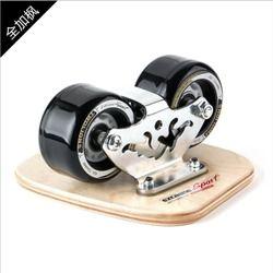TWOLIONS Skates Freeline Maple Kanada Kayu Drift Skate Board Patines Scrub Deck Sepatu Gaya bebas Moire Wakeboard