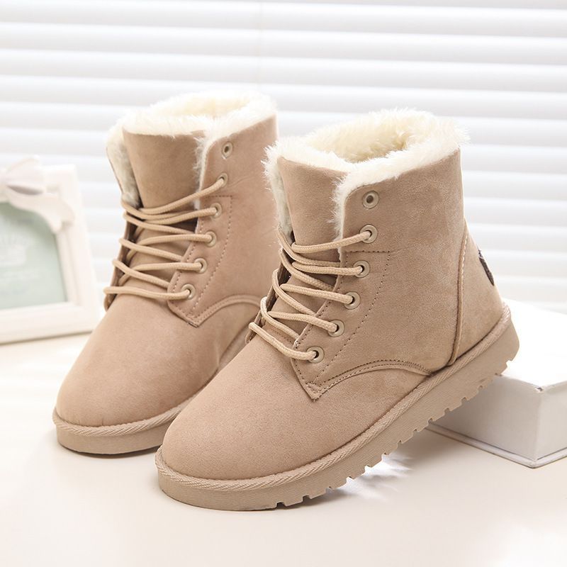 Women Boots Winter Snow Boots Women Ankle Boots Black Fashion 2017 Brand Keep Warm Casual Shoes